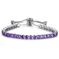 Glaçons de tennis de tennis de tennis de tennis en rangée Cubic zircone diamant bracelets de mariage bijoux de mariage pour femmes enfants cadeau et sableux