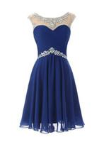 로얄 블루 짧은 A 라인 공식 드레스 칵테일 미니 댄스 파티 드레스 이브닝 가운 2019 열린 뒷면 특별 행사 드레스 뜨거운 판매