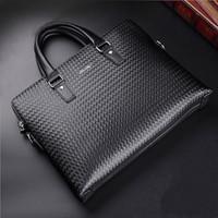 Borse in tessuto in vera pelle da uomo in pelle con cerniera doppia borsa a tracolla Casual Black Brown Business Briefcase