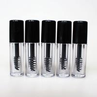 0,8 ml Mini Klar Leere Mascara Rohr Wimperncreme Vial Flüssigkeit Flasche Probe kosmetischer Behälter mit Leakproof Inner Black Cap Kostenloser Versand