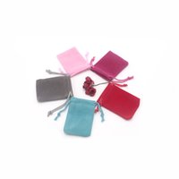 100pcs lot Wholesale 5*7cm Velvet Bag Jewelry Necklace Earring Packaging Drawstring Pouches Christmas Wedding Gift Candy Bag
