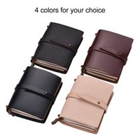 Portable Travel Journal Diary Leather Writing Notebook Refil...