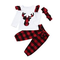 Best selling explosions autumn baby Christmas new elk long- s...
