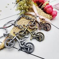 Çinko Alaşım Retro Bisiklet Şekilli Anahtarlıklar Metal Bisiklet Anahtarlıklar Spor Hediyeler için Düğün Parti Lehine ZA6571
