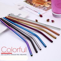 DHL Stainless Steel Straw Drinking Reusable metal Colorful m...