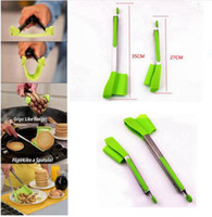 2pcs 1 set Clever Spatula Tong 2- in- 1 Kitchen Spatula Tongs ...
