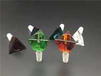 Алмаз Кристалл форма толстого стекла табак чаша Оптовая многоцветный высокое качество золоуловитель курение стеклянная чаша для воды бонг бесплатная доставка