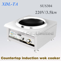 220v 3500w countertop commercial induction wok cooker, Stainl...