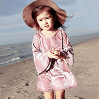 2018 New Baby Girls Dresses INS Hot Sale Spring Autumn Velve...
