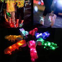 Melhor LED Shoelaces Moda Light Up Sapatilha Casual Shoe Laces Discoteca Festa À Noite Brilhando Cordas Sapato Hip-hop Dança Shoelace2pcs = 1 par