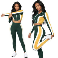 Women Autumn Tracksuits Sets Slim Fit Two Piece Gym Clothing...