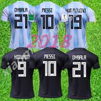 كأس العالم 2018 الأرجنتين كرة القدم الفانيلة ميسي dybala كون أجويرو فوتبول كاميسا لكرة القدم camisetas قميص كيت مايوه