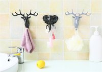 Wall Decor Hooks Antlers American Style Household Decor Hook...
