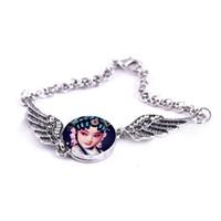 кнопка браслет для сублимации женщин крылья ангела браслеты для женщины горячая передача печати ювелирных изделий индивидуальные diy подарки 008