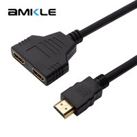 Amkle 1080P 2 Port HDMI Splitter 1 in 2 Out HDMI Male to Fem...