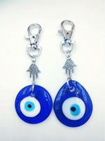 Hamsa Hand Antik Silber Keychain Jüdische Symbole, KabbalahGlass Evil Eye für Schlüssel Auto Tasche Charme Schlüsselanhänger Handtasche Paar Schlüsselanhänger-16