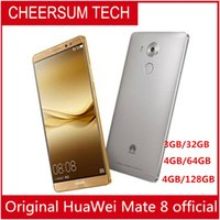"""rinnovato Firmware globale HuaWei Mate 8 4G LTE Smart Phone Kirin 950 Android 6.0 6.0 """"FHD 1920X1080 4GB RAM 128 GB ROM 16.0MP Touch ID NFC"""