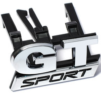 ABS Chrome GT Sport Front Greille Badge Эмблема наклейки для Volkswagen VW Polo Golf Passat B5 Touran Bora Car-Styling автомобиль наклейка