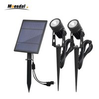 Solar Powered Spotlights IP65 6w Waterproof Die- cast lawn li...