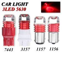 4Pcs 1156 ba15s LED Licht rot 5630SMD Auto schalten Lampe Brems Stop Licht 7443 1157 3157 Rücklicht