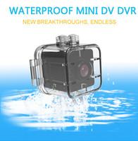 Su geçirmez 155 derece Geniş açılı Lens HD 1080 P Mini DV DVR SQ12 Mini Spor Video Kamera ile Kızılötesi Gece Görüş Hareket Algılama