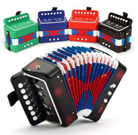 뜨거운 판매 어린이 장난감 악기 시뮬레이션 아코디언 음악 완구 교육 완구 어린이 뮤지컬 아코디언
