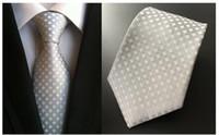도매 사업 망 넥타이 세트 여러 가지 빛깔의 페이즐리 줄무늬 결혼식 정장 정장 넥타이 넥타이 손수건 폴리 에스테르 무료 배송