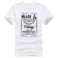 Personalised T Shirts O- Neck Short Made In 1987 30Th Year Bi...
