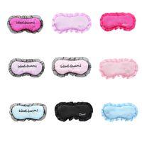 9 Cores Lace Edge Sleep Maskes Mulher Meninas Máscaras de Olho Portátil Traveal Eyeshade Office Rest Eye Remendo Eyepatch