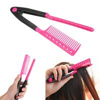 V Type Type Coiffeur Peigne Salon Diy Salon Coiffure Tool Tool Curls Cheveux Brosse Peignes DHL Free