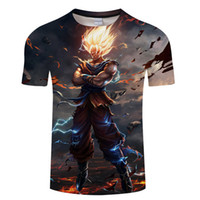 Dragon Ball Z T Shirts Mens Summer Fashion 3D Print Super Sa...