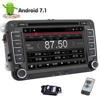 폭스 바겐 골프를위한 2DIN 자동차 DVD 플레이어 GPS 네비게이션 스테레오 - HD 멀티 터치 스크린을위한 VW 카 스테레오 8 코어 안드로이드 7.1 헤드 유닛