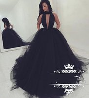 Sexy Plunning V Neck Black Prom Dresses 2018 New Long Formal...