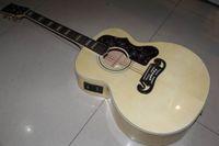 Ücretsiz nakliye! Toptan Yeni Varış 43 # SJ200 Akustik Elektro Gitar ile Fishma 301Top Kalite Doğal 120117