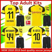 Dortmundes uniformes de fútbol para adultos kits de jersey de fútbol REUS  2018 2019 casa AUBAMEYANG f9810d814b382