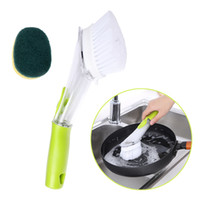 Kitchen Dish Brush Refill Liquid Long Handle Scrubber for Cl...
