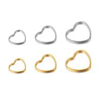 11/16/20 mm argento oro cuori vuoti di alta qualità di figura di fascini di acciaio inossidabile Seno del pendente per i monili la collana che fa fai da te
