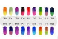 NEUHEIT Elite99 7ml Temperaturwechsel Chamäleon Farbwechsel UV-Nagelgelpoliermittel UV-Gel einweichen Wählen Sie 8 aus 54 Farben