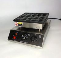 전기 상업 네덜란드어 Poffertjes 그릴 미니 팬케이크 기계 950W 25 구멍 Nonstick 팬 방수 스위치 새로운 CE