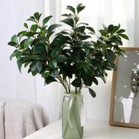Falso haste longa Agrião Folha Verdura Simulação verdes plantas reais Folhas de toque para plantas casamento Showcase artificiais decorativa