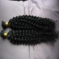 Mongólio afro kinky encaracolado sem trama Bulk de cabelo humano para trança 100g kinky encaracolado mongolian mongol cabelo 1 pcs Bulk de cabelo de trança humana