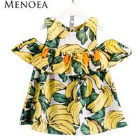 Menoea девушки Dress 2017 новый летний стиль Детская одежда дети Dress банан шаблон печати для новорожденных девочек Dress Girl одежда