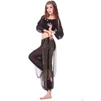 2шт костюм танец живота костюмы восточный танец костюмы Болливуд Б живота костюм комплект топ бюстгальтер + брюки