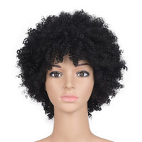 ZhiFan Black Afro Kinky Curly Synthetic Wig African American...