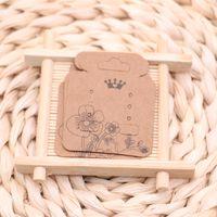 Schmuckzubehör Verpackungskarten 4.3 * 5,2 cm Blumenform Ohrring Kleines Tag 200pcs / lot Kundenspezifisches Logo