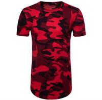 - T-shirt à manches courtes de camouflage high street à la mode européenne et américaine 2018 printemps et en été