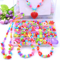 Girl Beads DIY Toys For Children Make Up Puzzle Toys Creativ...