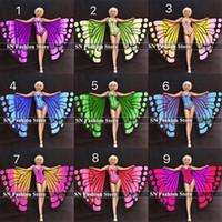 R99 Danse de salon costumes de scène podium spectacle spectacle robe ailes papillon manteau combinaison femme body porte tenues costumes