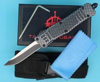 Allvin Herstellung Kohlefaser Farbe 7 Zoll 616 Mini Auto Tactical Knife 440C Single Edge Drop Point Feine Klinge EDC Taschenmesser