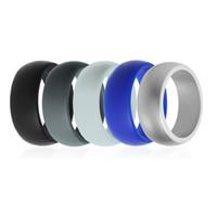Anel de casamento de Silicone flexível O-ring de casamento confortável anel leve para mulheres homens presente para o amor Multicolor